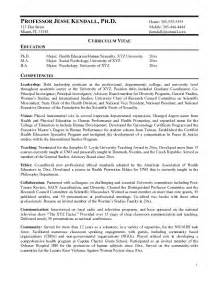 Curriculum Vitae Examples For Professors by Free Professor Resume Example