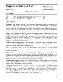 Sample Resume Adjunct College Professor   eBook Database