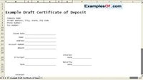 certificate of deposit template exles of financial statements