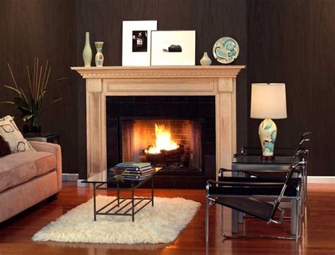 Modern Fireplace Shelves by Stylish Wood And Modern Fireplace In Living Room