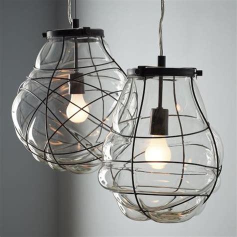 Glass Blown Pendant Lighting Organic Blown Glass Pendant Pendant Lighting By West Elm
