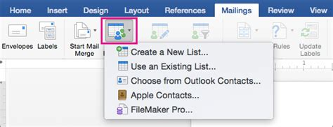 Create Mailing Labels On Mac