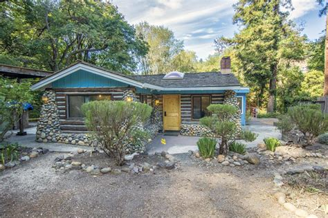 Cottages In Santa Beautiful Creek Side Log Cabin In Santa