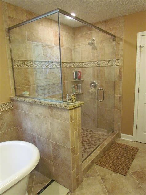 bathroom tile ideas lowes kraftmaid sonata cherry harris traditional bathroom