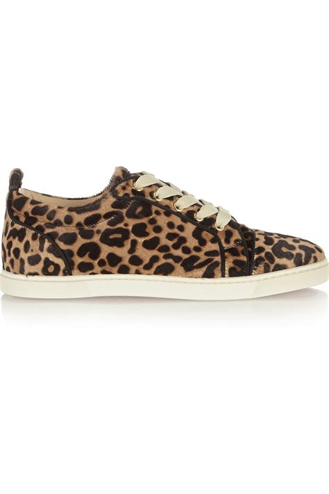 leopard print sneakers for christian louboutin gondoliere leopard print calf hair
