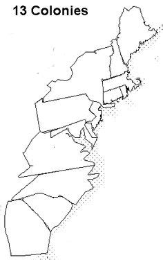 blank map of 13 colonies 101 travel destinations