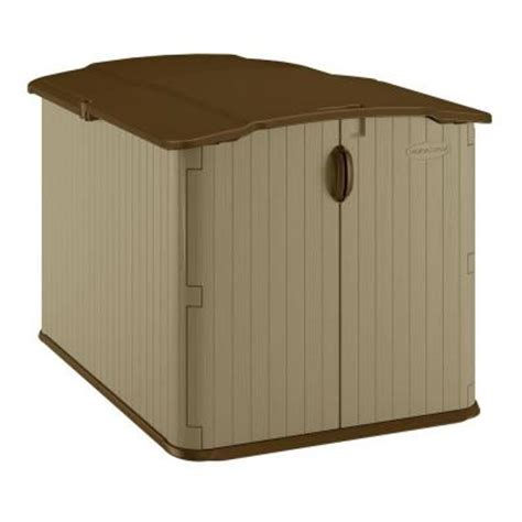 Bike Shed Home Depot by Suncast Glidetop 6 Ft 8 In X 4 Ft 10 In Resin Storage