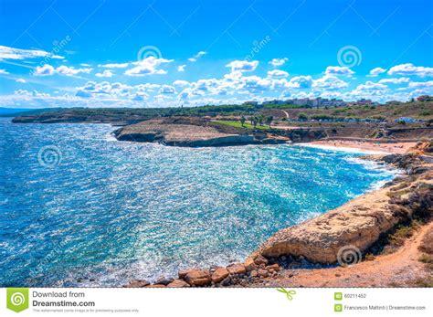 porto della sardegna vista sul mare della costa della sardegna nel hdr torres