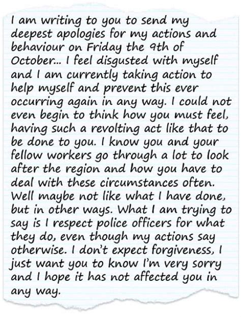 Apology Letter To Court For Drink Driving Offence Wrote Apology Letter To Policeman He Spat On Mackay Daily Mercury