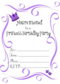 it s a princess thing free printable princess birthday invitations
