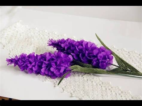 Lavender Paper Flower Tutorial | how to make lavender paper flower tutorial hướng dẫn