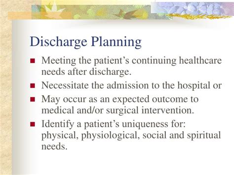 ppt discharge planning powerpoint presentation id 719999
