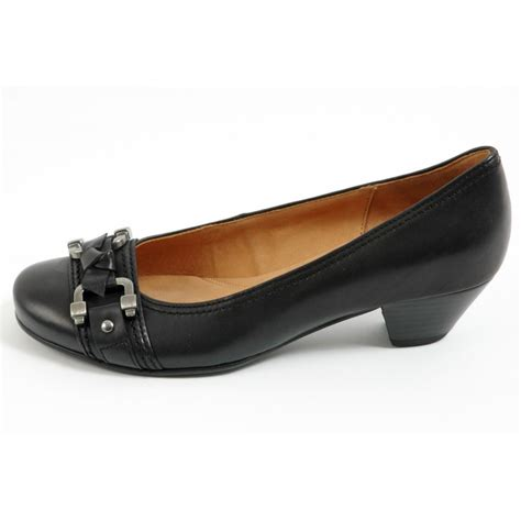 gabor shoes sale womens court shoe in black