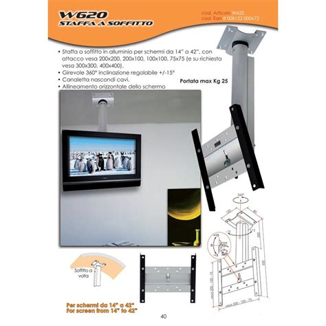 staffa soffitto tv staffa a soffitto in alluminio per lcd plasma led da 14