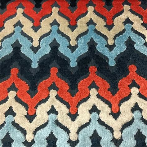 Patriotic Upholstery Fabric by Raised Velvet Fabric Collection Top Fabric