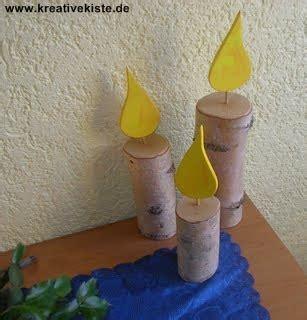 holz flämmen naturholz kerze mit flamme basteln