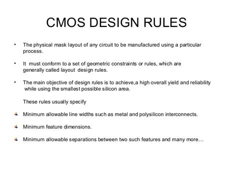 nmos and cmos layout design rules cmos design rule