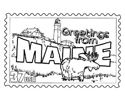 maine state st coloring page usa coloring pages