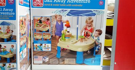 sand and water table costco step2 sail away adventure sand and water table with