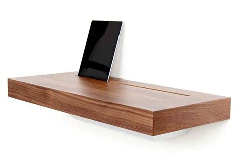 charging station shelf stage interactive wall shelf works as a charging station