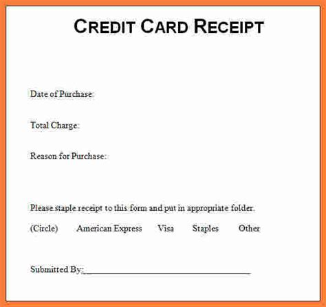 credit card bill template 9 credit card receipt marital settlements information