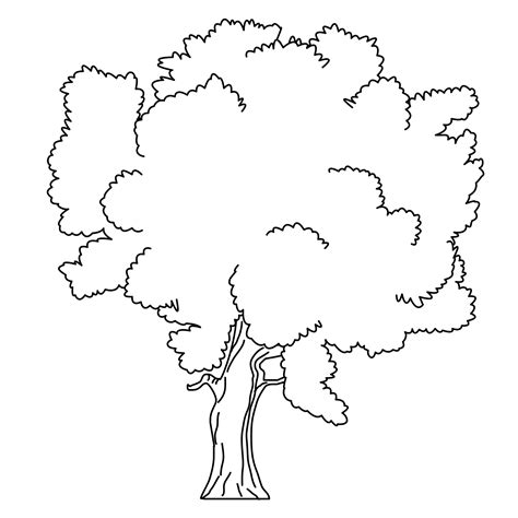 free coloring pages of trees without leaves