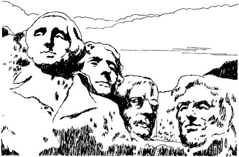 coloring page for mount rushmore free mt rushmore coloring pages