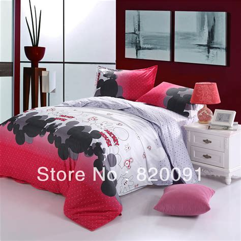Mickey Mouse Bedroom Furniture Cool Mickey Mouse Bedroom Set On Mickey Mouse Print Duvet Cover Bedding For Children Bedroom Set