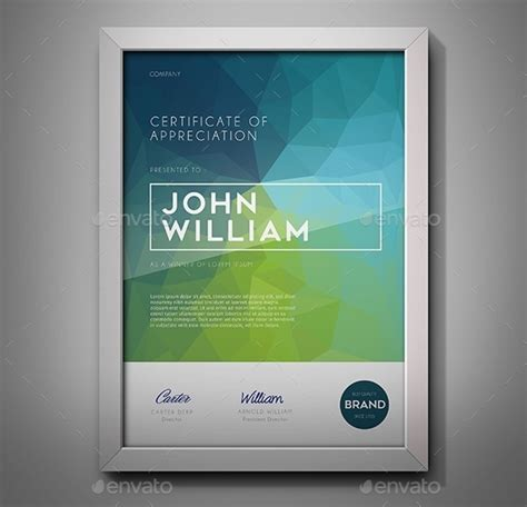 modern certificate template 20 free and premium psd certificate templates webprecis