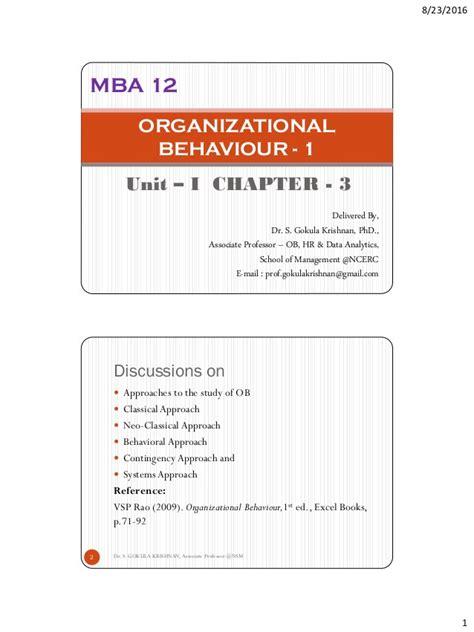 Ktu Mba Syllabus by Ktu Ob 1 Unit 1 Chapter 3