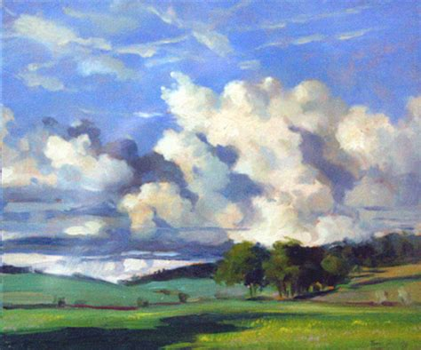Landscape Artists Uk Cotswold Landscape Landscape Paintings Tim Dolby