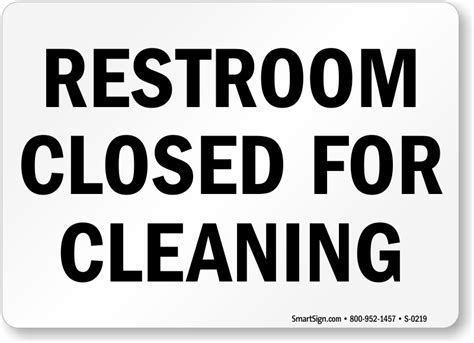 bathroom closed sign restroom closed for cleaning sign free pdf sku s 0219