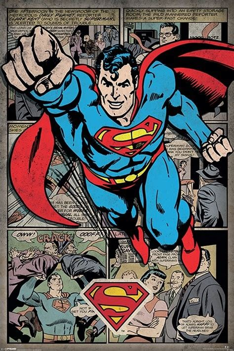superman comic montage poster sold at europosters