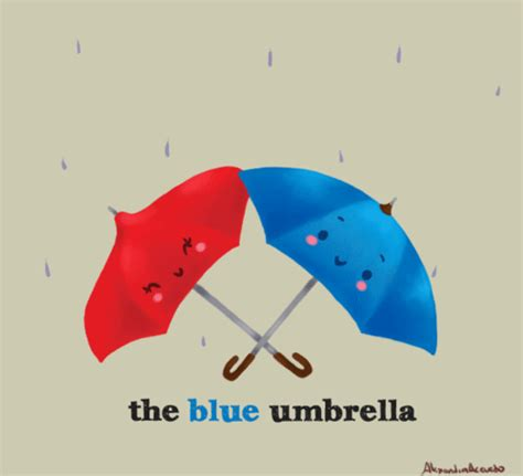 film blue umbrella rainy days