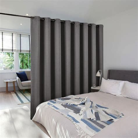 office partition curtains nicetown room divider curtain total privacy solid ready