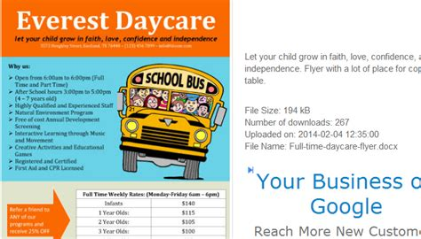 Make A House Plan by 5 Daycare Flyers Templates Af Templates