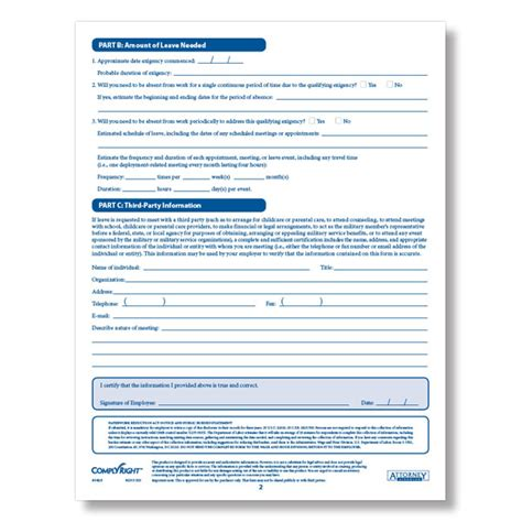 printable fmla poster fmla exigency military certification form downloadable