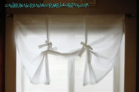 tie up curtain tutorial curtains no sew curtains and no sew on pinterest