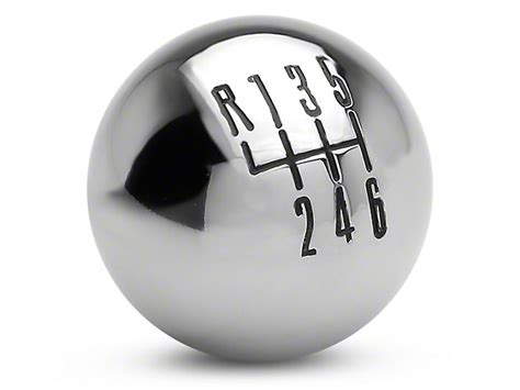 Chrome Shift Knobs by Modern Billet Mustang Retro Style 6 Speed Shift Knob