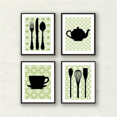 Fork Art Spoon Art Kitchen Decor Kitchen Utensil Art Wall Decorations For Kitchens