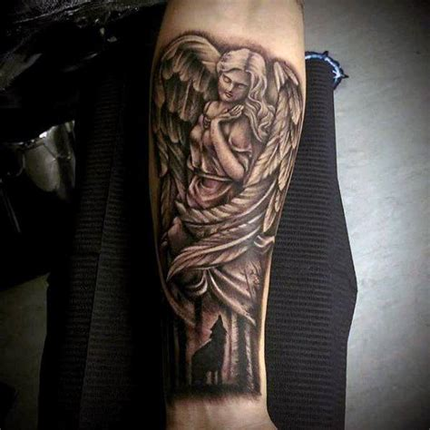 angel tattoo on forearm 100 guardian tattoos for spiritual ink designs