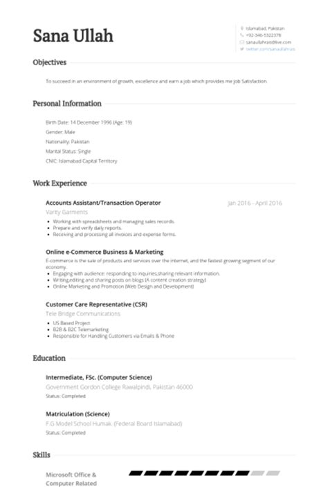 Exle Resume Assistant Accountant by Comptes Assistant Exemple De Cv Base De Donn 233 Es Des Cv