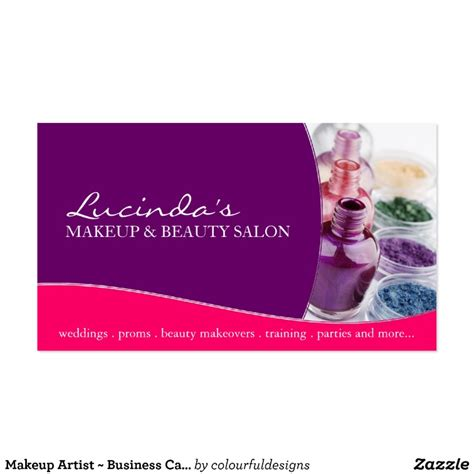 makeup business cards templates free makeup artist business card template zazzle