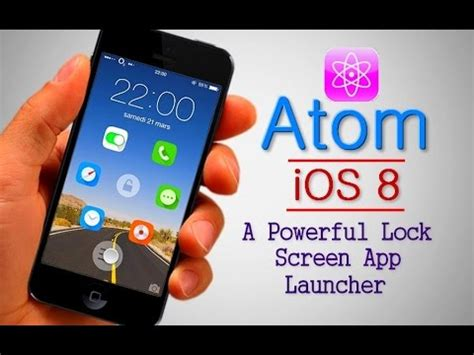 atom ios 8 a powerful lock screen app launcher for iphone 4s 5 5s 6 and 6 plus