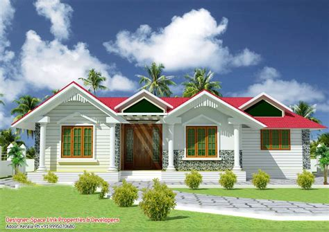 one floor houses single house plans in kerala escortsea