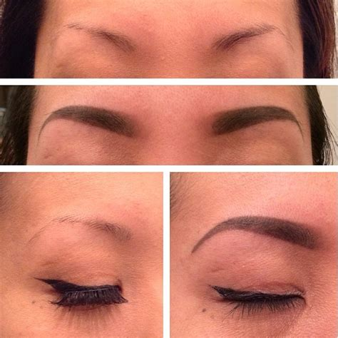 pictures of eyebrow tattooing before and after tattoos