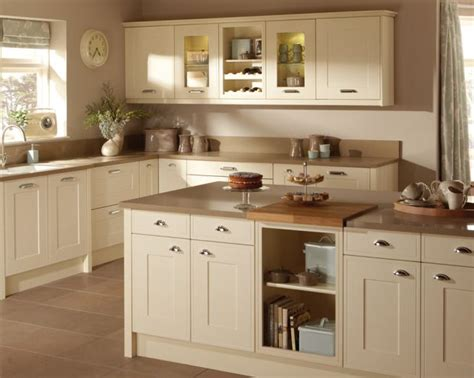 cream kitchen island photo of shaker cream taupe premier kitchens kitchen with