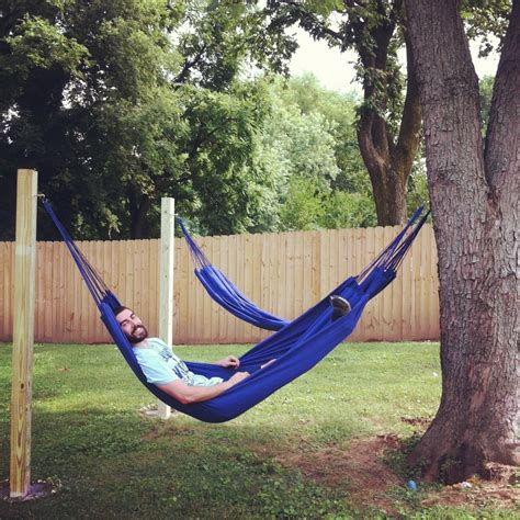 backyard hammock stand hammocks in the backyard outside living pinterest