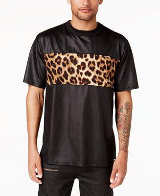 Leopard Print T Shirt Mens by Guess S Leopard Print Panel T Shirt Reviews T Shirts Macy S