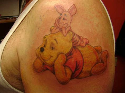 piglet tattoo best friends winnie the pooh and piglet chill out together